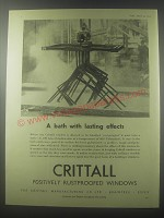1954 Crittall Windows Ad - A bath with lasting effects