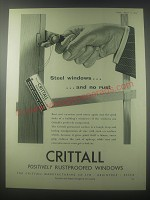 1954 Crittall Windows Ad - Steel windows .. And no rust
