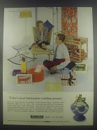 1954 Ronson Wedgwood Lighter Ad - Today's most fashionable wedding present