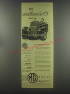 1954 MG Midget Car Ad - The enthusiast's car