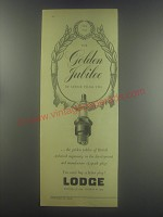 1954 Lodge Spark Plugs Ad - The Golden Jubilee