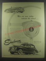1954 Sunbeam Talbot and Alpine cars Advertisement - The car you judge