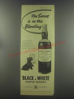 1954 Black & White Scotch Ad - The secret is in the blending