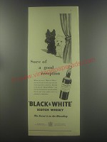 1954 Black & White Scotch Ad - Sure of a good reception