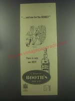 1954 Booth's Dry Gin Ad