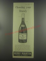 1954 Remy Martin Cognac Ad - Choosing your brandy