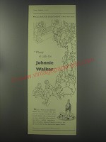 1954 Johnnie Walker Scotch Ad - All-round enjoyment where men meet