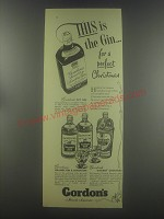 1954 Gordon's Dry Gin, Orange Gin, Lemon Gin and Shaker Cocktails Advertisement