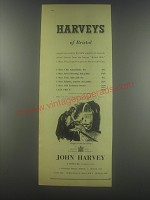 1954 Harveys of Bristol Sherries Ad - Harveys of Bristol