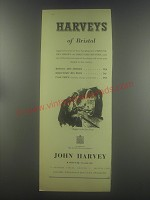 1954 Harveys of Bristol Sherries and Port Ad - Harveys of Bristol