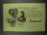 1954 Irish Tourist Bureau Ad - The holiday abroad that's so easy to plan