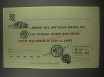 1954 MG T.D. Special Car Ad - During 1953, Ken Miles driving his MG T.D.