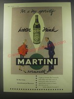 1954 Martini Vermouth Ad - For a dry aperitif better drink Martini vermouth