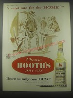1954 Booth's Dry Gin Ad - and one for the home!