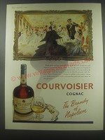 1954 Courvoisier Cognac Ad - The brandy of Napoleon