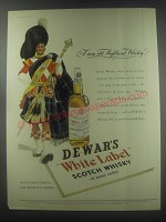 1954 Dewar's White Label Scotch Ad - A rare old Highland Whisky