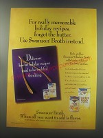1997 Swanson Broth Ad - For really memorable holiday recipes