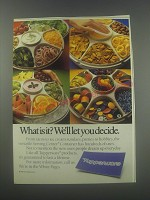 1986 Tupperware Serving Center Container Ad - What is it? We'll let you decide