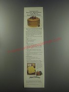 1985 Duncan Hines Deluxe Lemon Cake Mix Ad - recipe for Sour cream Lemon Glaze