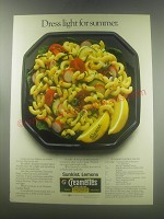 1985 Sunkist Lemons and Creamettes Pasta Ad - recipe for Summer Garden Salad