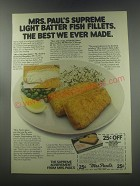 1979 Mrs. Paul's Supreme Light Batter Fish fillets Ad - The best we ever made