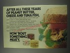1978 Underwood Deviled Ham, Chunky Chicken and Roast Beef spreads Advertisement