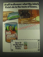 1973 Hunt's Big John's Beans 'n Fixin's Ad - 5¢ off to discover