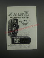 1957 Bauer 88B 8mm Automatic Movie Camera Advertisement