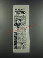 1956 National Tourist Organization of Greece Ad - Bring legend to life