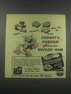 1946 Cudahy's Deviled Ham Ad - Party Hearty make 'em all with Cudahy's Puritan