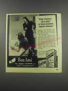 1946 Bon Ami Cleanser Ad - Tubs sparkle in a jiffy