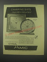 1954 Cyma-Amic Alarm Clocks Advertisement - Model 10223 and 11101