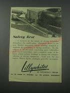1954 Lillywhites Marker Automatic releasing Ski binding Ad - Safety first
