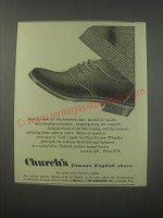 1954 Church's Turf Shoes Ad - Here's a shoe for the footwork that's needed