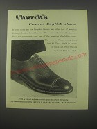 1954 Church's Chamberlain Shoes Ad - Church's famous English shoes