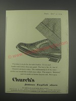 1954 Church's Burwood Shoes Ad - Church's famous English Shoes