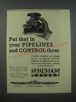 1954 Saunders Diaphragm Valves Ad - Put that in your pipelines and control them
