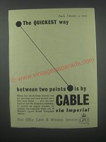 1954 GPO Post Office Cable & Wireless Services Advertisement