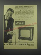 1954 G.E.C. BT1746 14 in. Television Ad - Eamonn Andrews - We're not going