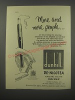 1954 Dunhill De Nicotea Crystal Filter holder Ad - More and more people