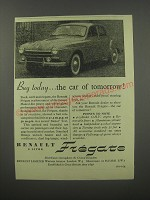 1954 Renault Fregate Ad - Buy today.. The car of tomorrow