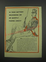 1954 Oldham Major Battery Ad - Is your battery soldiering on or quietly fading