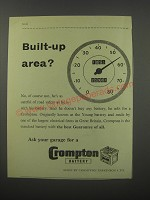 1954 Crompton Battery Ad - Built-up area?