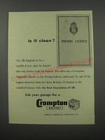 1954 Crompton Battery Ad - Is it clean?