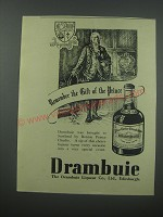 1954 Drambuie Liqueur Ad - Remember the gift of the Prince