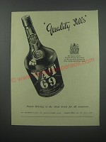 1954 Vat 69 Scotch Ad - Quality Sells