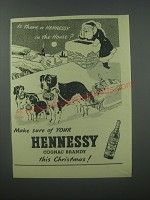 1954 Hennessy Cognac Advertisement - Is there a Hennessy in the house?