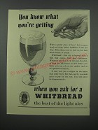 1954 Whitbread Pale Ale Ad - You know what you're getting