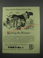 1954 Pimm's No. 1 Ad - Kicking the Brisket