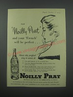 1954 Noilly Prat Vermouth Ad - Say Noilly Prat and your French will be perfect